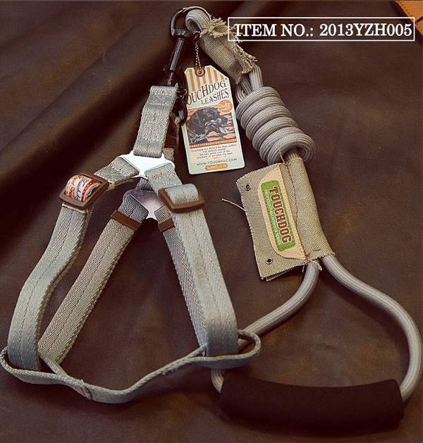 Touchdog Rope & Harness Set - Grey