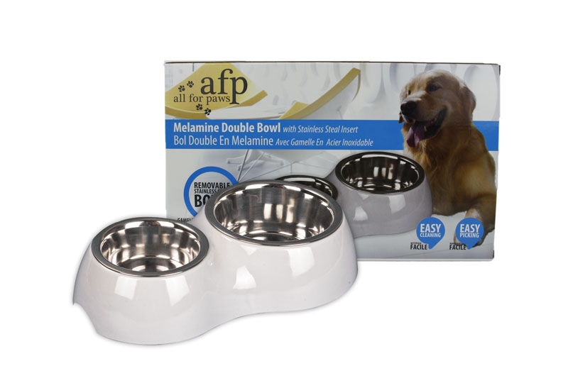 AFP Melamine Double Set with Stainless Steel Bowl