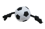 Vitakraft Euro Soccer Ball Plushie with Rope