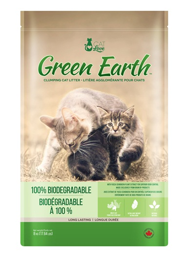 Cat Love Green Earth Multi-Cat Biodegradable Clumping Cat Litter