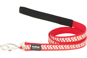 Red Dingo Dog Reflective Ziggy Lead Small