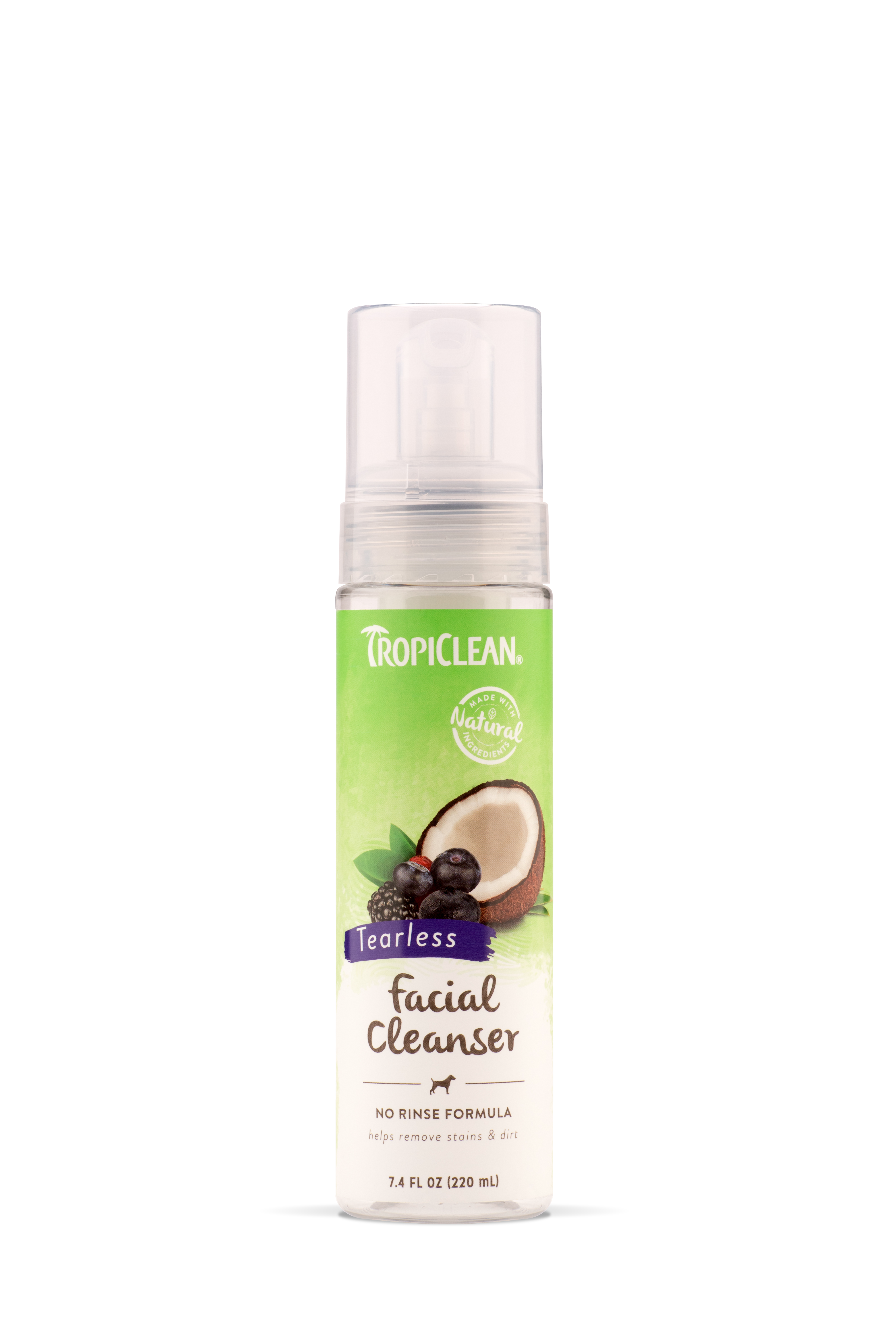 Tropiclean Waterless Facial Cleanser For Pets 7.4oz