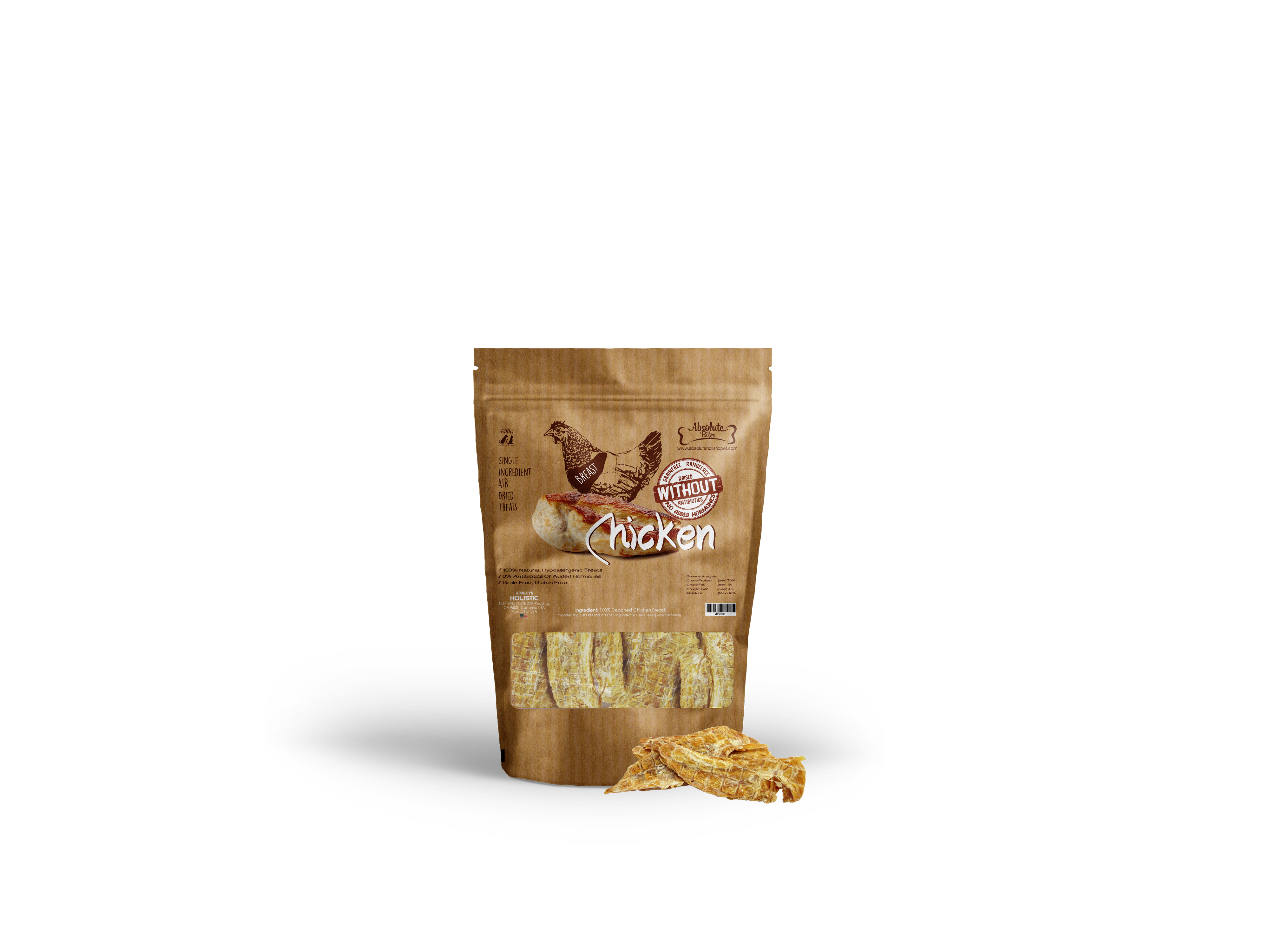 Absolute Bites Air Dried Chicken Breast 170g