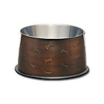 Loving Pets Artistic Antique Copper No Tip Bowl
