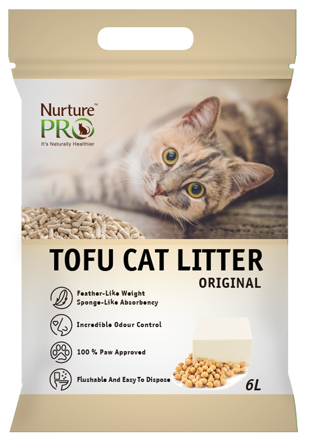 Nurture Pro Tofu Cat Litter - Original