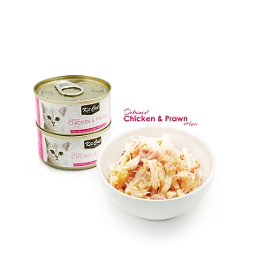 KitCat Country Fresh Deboned Chicken & Prawn 80g
