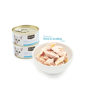 KitCat Ocean Pure Deboned Tuna & Scallop 80g
