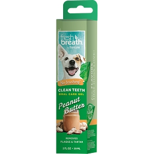 Tropiclean Fresh Breath Clean Teeth Oral Care Gel Peanut Butter 2oz)