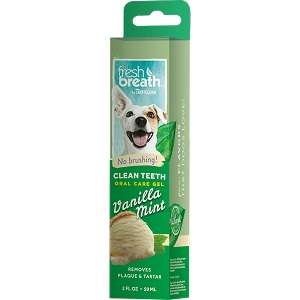 Tropiclean Fresh Breath Clean Teeth Gel Vanilla Mint 2oz