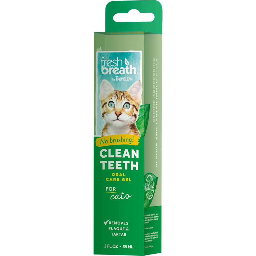 Tropiclean Fresh Breath Clean Teeth Gel For Cats 2oz