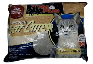 Tom & Pus Bentonite Cat Litter Unscented