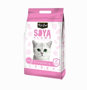 Kit Cat SoyaClump Soybean Litter Strawberry