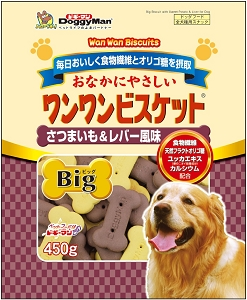 DoggyMan Bowwow Biscuit Big Sweet Potato & Chicken Liver