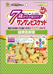 Doggyman Bowwow Biscuit Green & Yellow Vegetable 140g