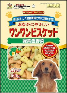 DoggyMan Bowwow Biscuit Green & Yellow Vegetable