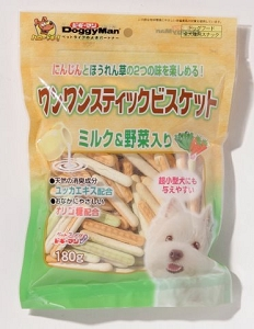 DoggyMan Bowwow Stick Biscuits Milk & Vegetables
