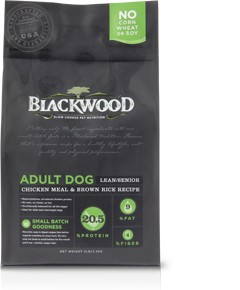 Blackwood ADULT DOG (Lean/Senior) – Chicken Meal & Brown Rice Recipe