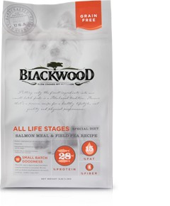Blackwood All Life Stages (Special Diet) – Grain Free Salmon Meal & Field Pea Recipe