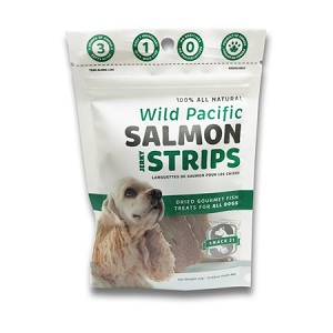Snack 21 Wild Pacific Salmon Strips for DOGS