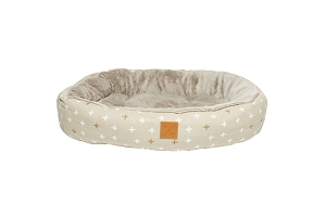Mog & Bone Four Seasons Reversible Circular Bed (Oatmeal Cross)