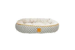 Mog & Bone Four Seasons Reversible Circular Bed (Grey Ikat)
