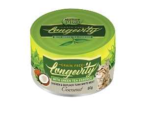 Nurture Pro Longevity Chicken & Skipjack Tuna White Meat with Coconut and Green Tea Essence