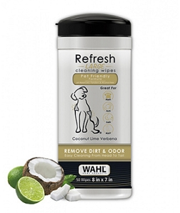 Wahl Refresh Large Dog 50 Wipes - Coconut Lime Verbena