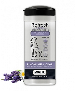 Wahl Refresh Large Dog 50 Wipes - Lavender Chamomile