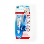 ALL FOR PAWS Sparkle Dental Easy Hold Finger Brush Peanut Butter