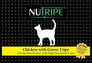 Nutripe Chicken and Green tripe cat + GLM