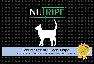 Nutripe Terakihi with Green Tripe cat + GLM