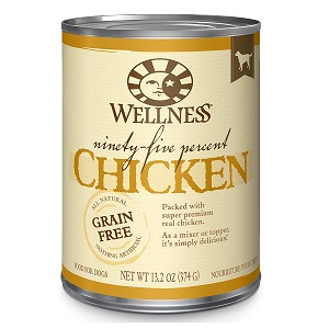 Wellness 95% Chicken, Canned Dog Food
