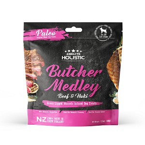 Absolute Holistic Air Dried Butcher Medley Beef & Hoki Dog Treats