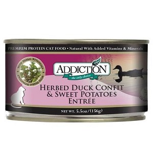 Addiction Canned Grain Free Herbed Duck Confit & Sweet Potatoes Entree Cat Food