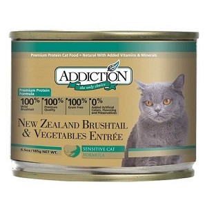 Addiction Canned Grain Free NZ Brushtail & Vegetables Entree Cat Food