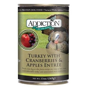 Addiction Canned Grain Free Turkey with Cranberries & Apples Entree Dog Food
