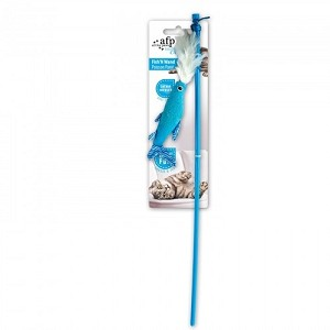 AFP Modern Cat Fish n Wand Toy