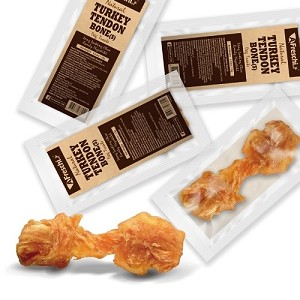 [5 For $10] Afreschi Natural Turkey Tendon Small - Bone / Pretzel / Ring
