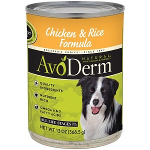 AvoDerm Canned Chicken & Rice Formula