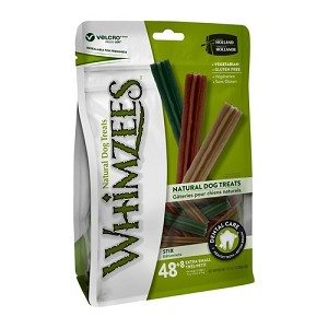 [BUY 2 FREE 1] Whimzees Value Bag Stix XS 48pcs