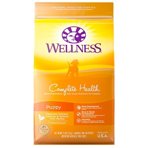 Wellness Complete Health Puppy Deboned Chicken, Oatmeal & Salmon Meal Recipe Dry Formula Dog Food