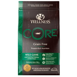 [UP TO 30% OFF w/ FREE TREATS for Large bag] Wellness Core Dry Wild Game