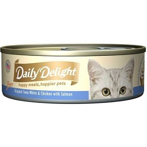 Daily Delight Canned Pure Skipjack Tuna White & Chicken with Salmon Cat Food