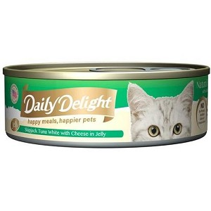 Daily Delight Canned Skipjack Tuna White with Cheese in Jelly Cat Food