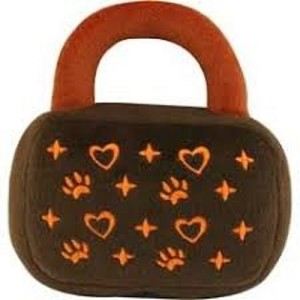 DOGIT Luvz Dog Toy Brown/Orange Plush Handbag Toy