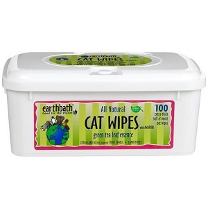 EarthBath Green Tea Leaf Essence Cat Wipes