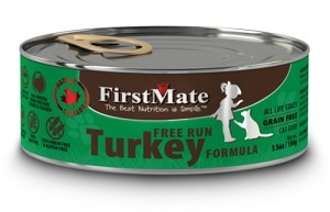 FirstMate Grain & Gluten Free Canned Free Run Turkey Cat Food