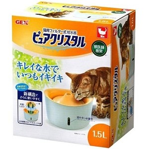 GEX Pure Crystal Drinking Fountain For Cats 1.5L & 2.5L