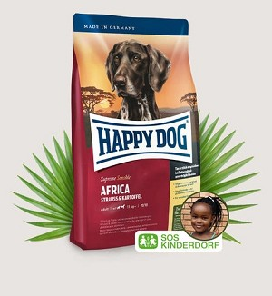 HAPPY DOG Supreme Sensible Africa Grain & Gluten Free Ostrich & Potato Dry Dog Food