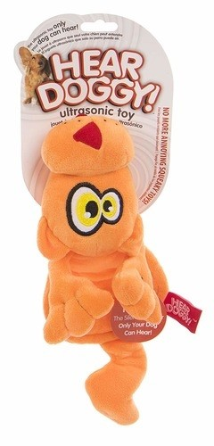 Hear Doggy Orange Cat Toy